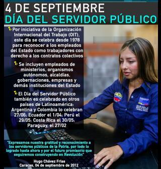 Dia del Empleado Público venezolano