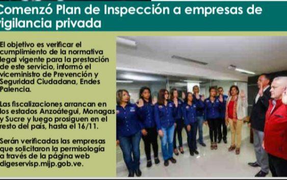 DIGESERVISP Inicia Plan Nacional de Inspección